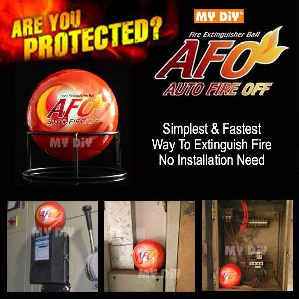 My Diy - Afo Automatic Fire Ball, Abc Fire Extinguisher, Fire Suppression Device, Fire Safety Product With Sign By My Diy Home Depot Sdn Bhd.