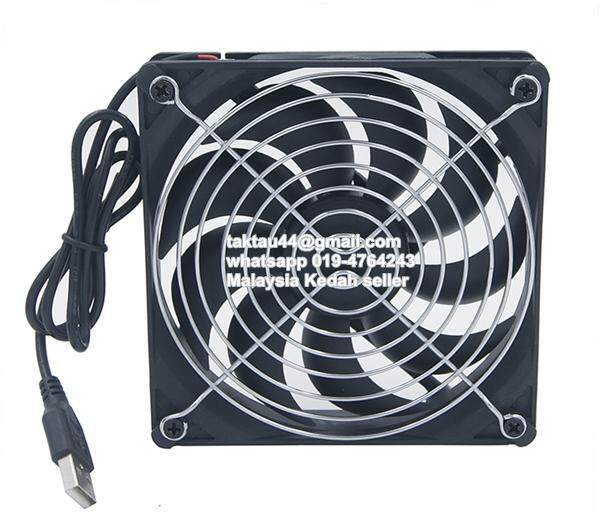 USB 1200RPM 120MM 12CM Cooling Fan For LCD TV Android Box Router Malaysia