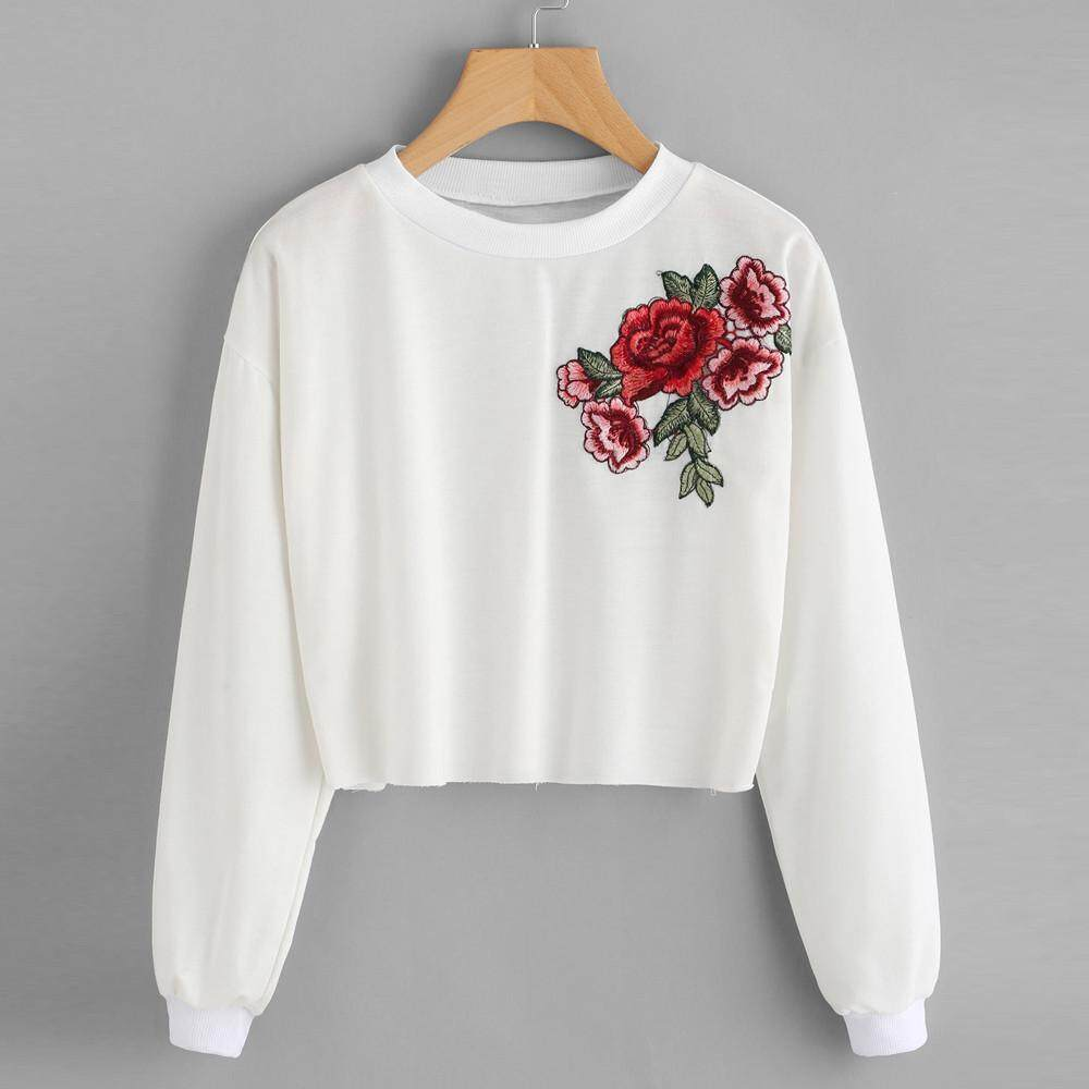 Clothes For Women With Best Online Price In Malaysia Lgs  Regular Fit Stripe Tee Blue Gray Classic Styles Biru L Calvinstore Womens Embroidery Applique Long Sleeve Sweatshirt Pullover Tops Blouse Rose