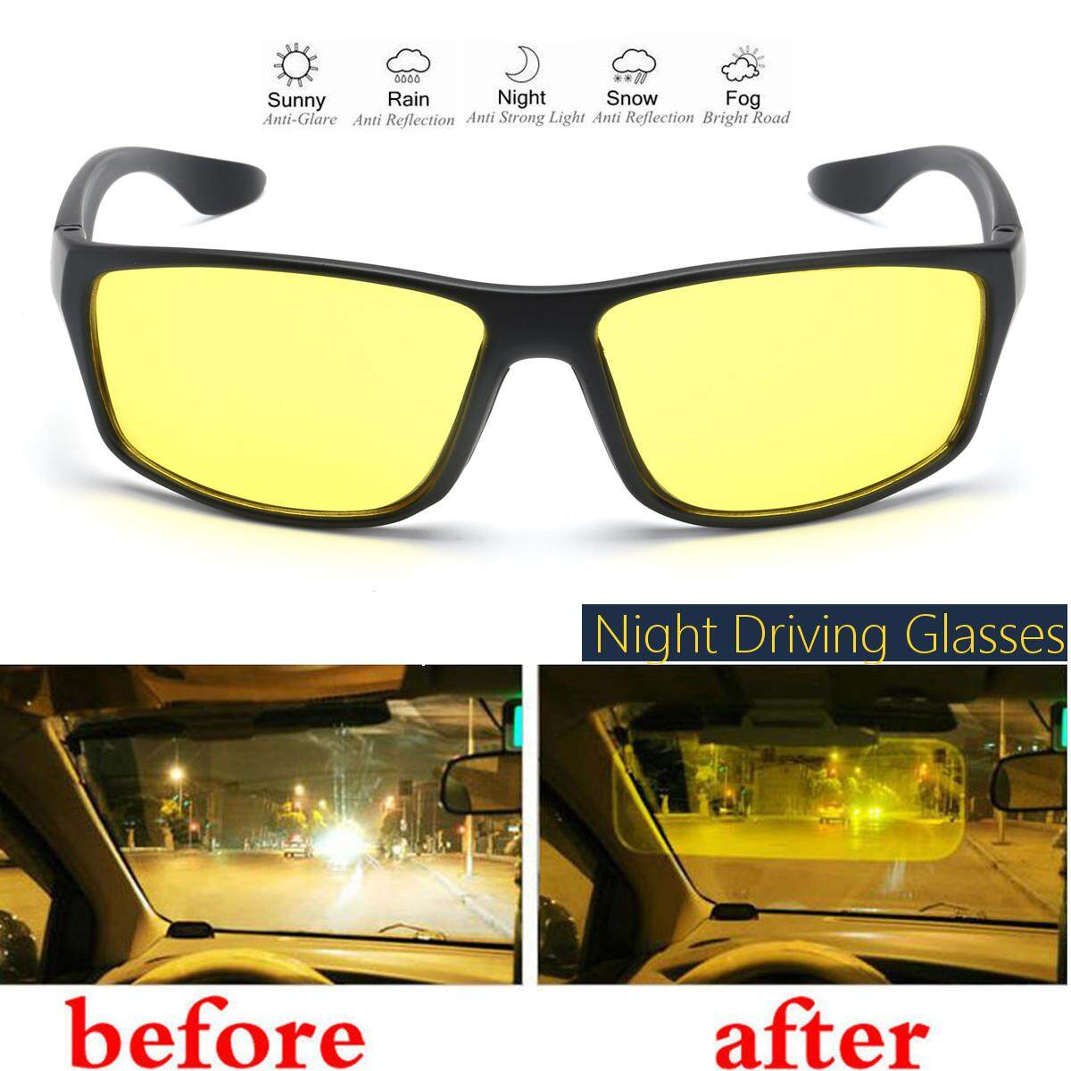 51656b1fefc Night Driving Glasses Anti Glare Vision Driver Safety Sunglasses goggles