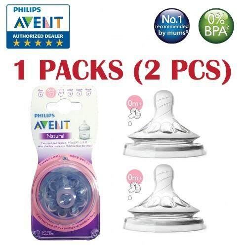 Philips Avent SCF651/23 Natural 2.0 Newborn Flow Teat 0m+ /1 Hole (2 pieces)