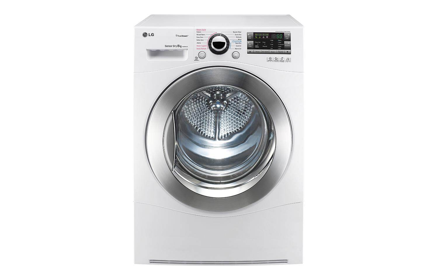 LG 8kg Dryer With True Steam And Sensor Dry TD-C8066WS