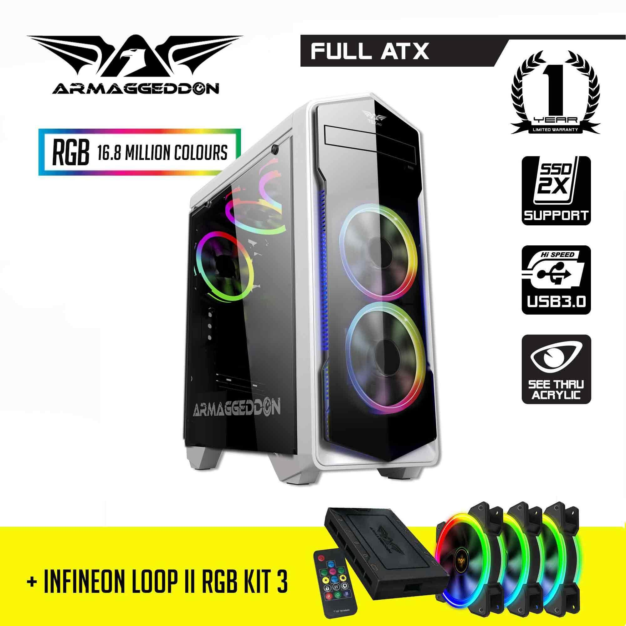 BUNDLE: Armaggeddon T5X Pro Full ATX Gaming PC Case and Infineon Loop II RGB Kit 3 Malaysia