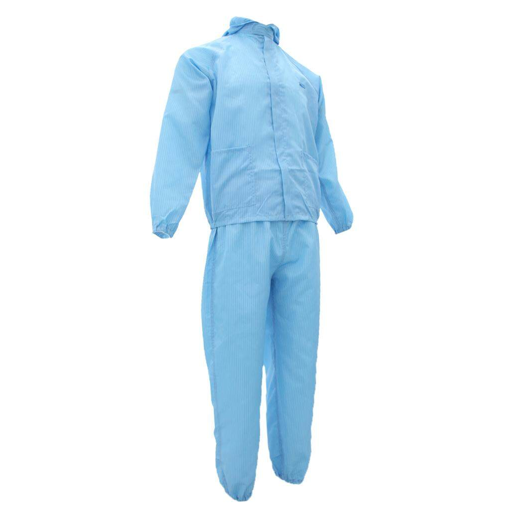Miracle Shining Anti-Static Protective Painting Suit Coverall Dust Proof Work Clothing Blue XXXL