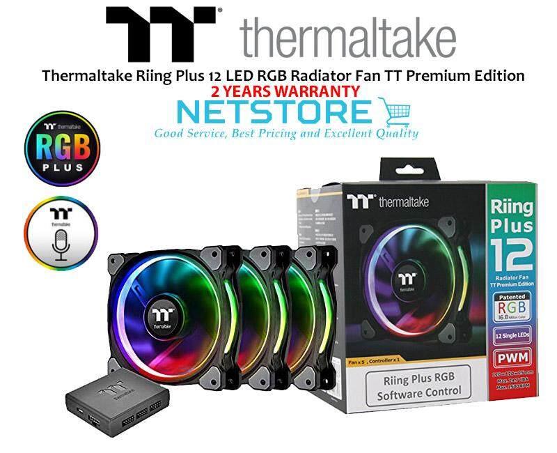 Thermaltake Riing Plus 12 LED RGB Radiator Fan TT Premium Edition  CL-F053-PL12SW-A