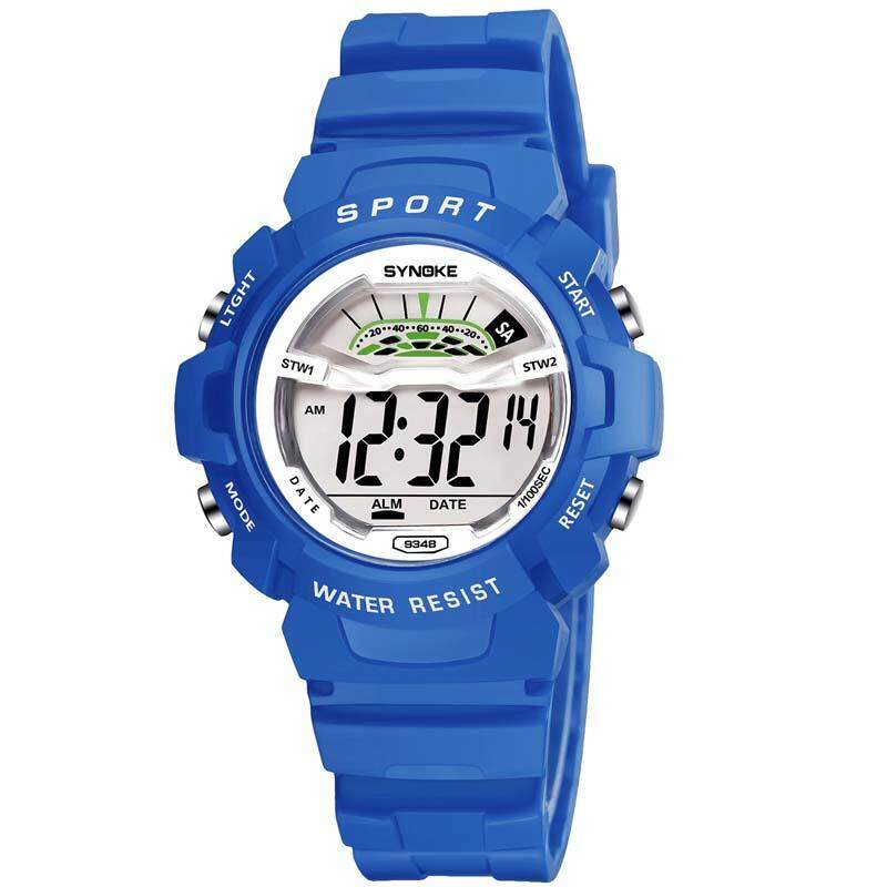 Women Kids Sports Watches Children Waterproof Watch Military Fashion Quartz Digital Watch Boys Wristwatch - Small - blue Malaysia
