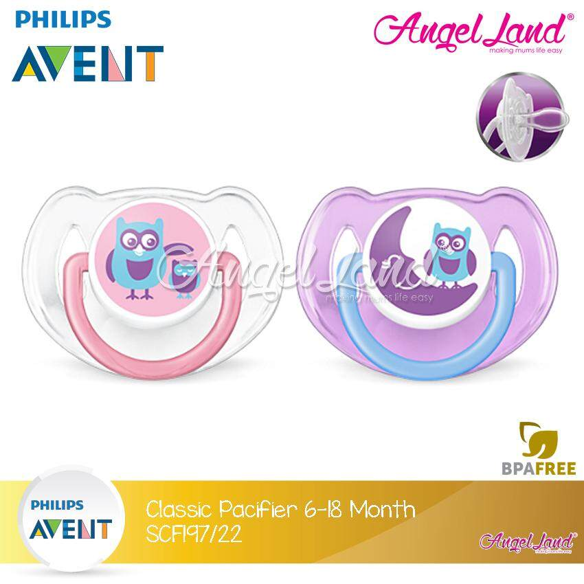 Philips Avent Classic Pacifier Animal (6-18months) SCF197/22 Owl Friends