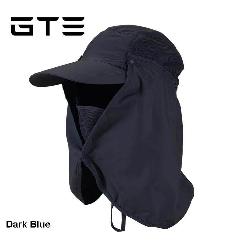 09994143873 GTE Unisex Outdoor Face Neck Cover Sunshade Hat Cap Fishing Hiking Hat UV  Protection - Dark