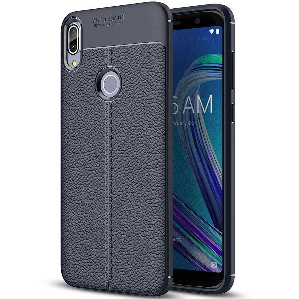 Shockproof Silicone Case PU Leather Back Cover Soft TPU Phone Casing For ASUS Zenfone Max Pro