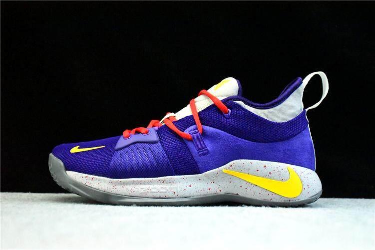 on sale ef860 f9f8f Nike_Authentic Paul George 2 Purple Yellow Men's Basketaball Shoe PG-13  Global Sales