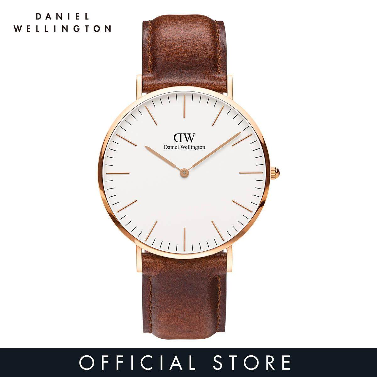 aa6c7534f921 Daniel Wellington Classic St Mawes 40mm White Dial on Rose Gold with Brown  Leather Strap -