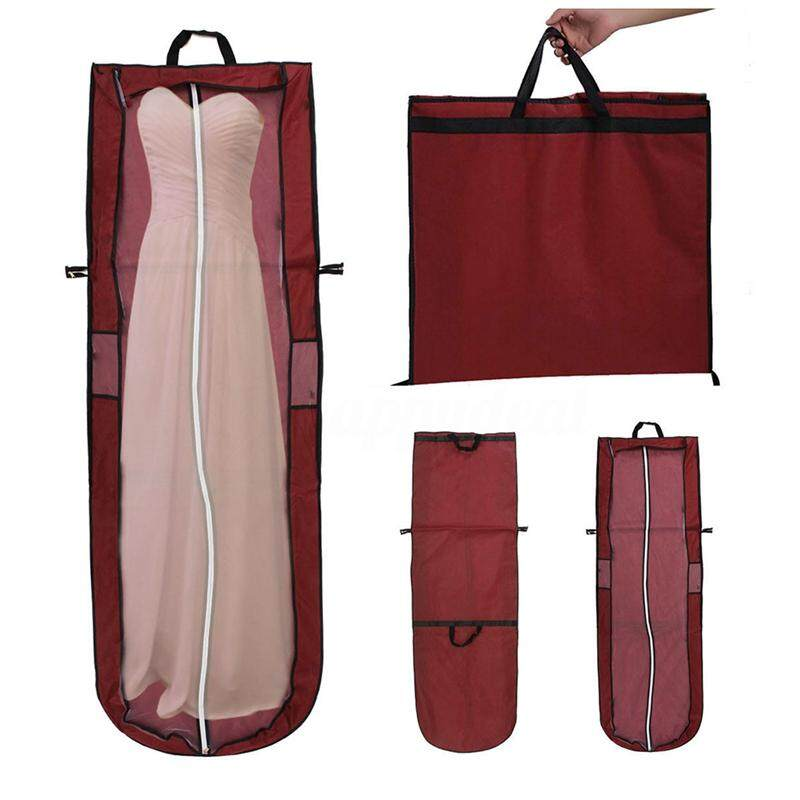 Showerproof Long Garment Dress Cover Bridal Wedding Dresses Storage Bag By Happyang