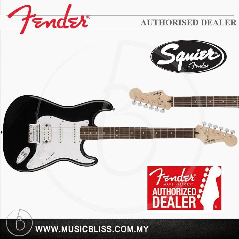 Fender Squier Bullet Stratocaster HSS Hardtail 6-String Electric Guitar, Rosewood Fingerboard (Black) Malaysia