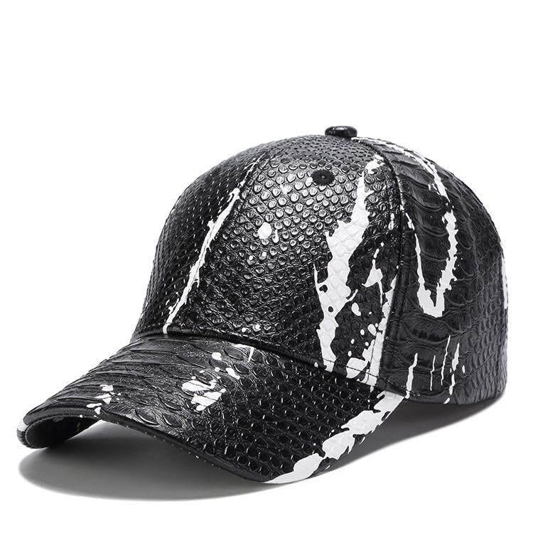 4b064342 PU Baseball Caps For Men New Design Snake Skin Pattern Snapback Hats  Casquette Homme Women's Cap