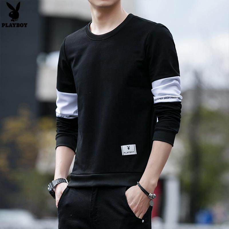 28d25585 Play Boy 2018 Fashion Korean Version of The New Men's Slim Long-sleeved  Casual T