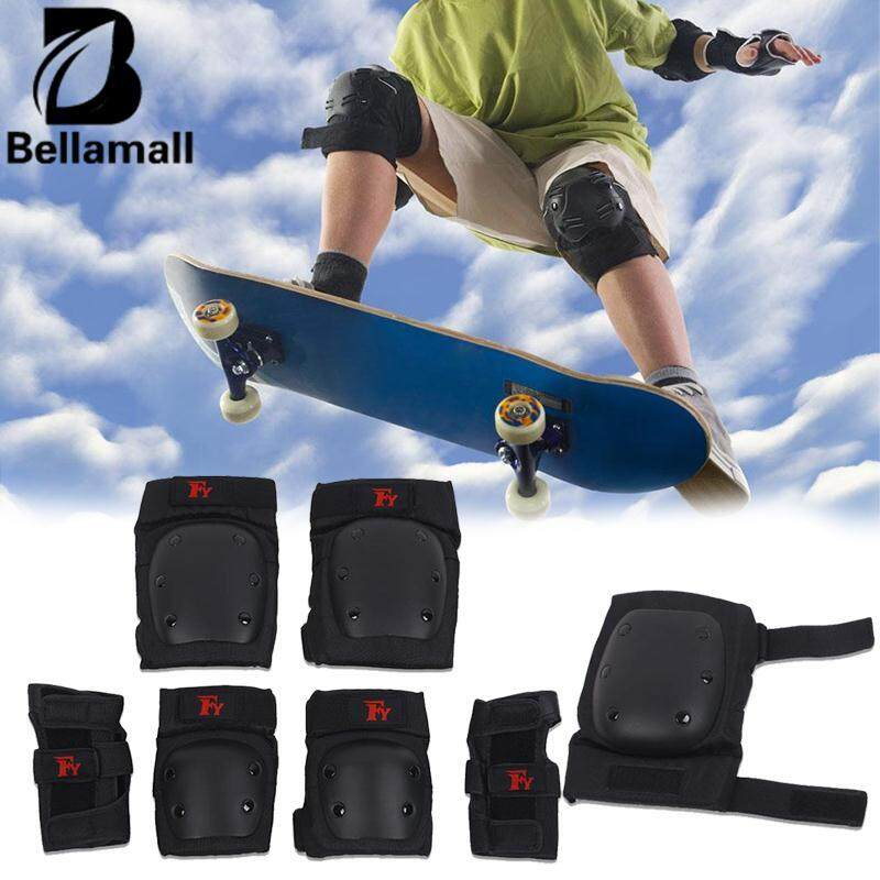 Bellamall:skateboarding Protector Skating Kneecap Hand Guard 6pcs/set Protective Gear By Bellamall.