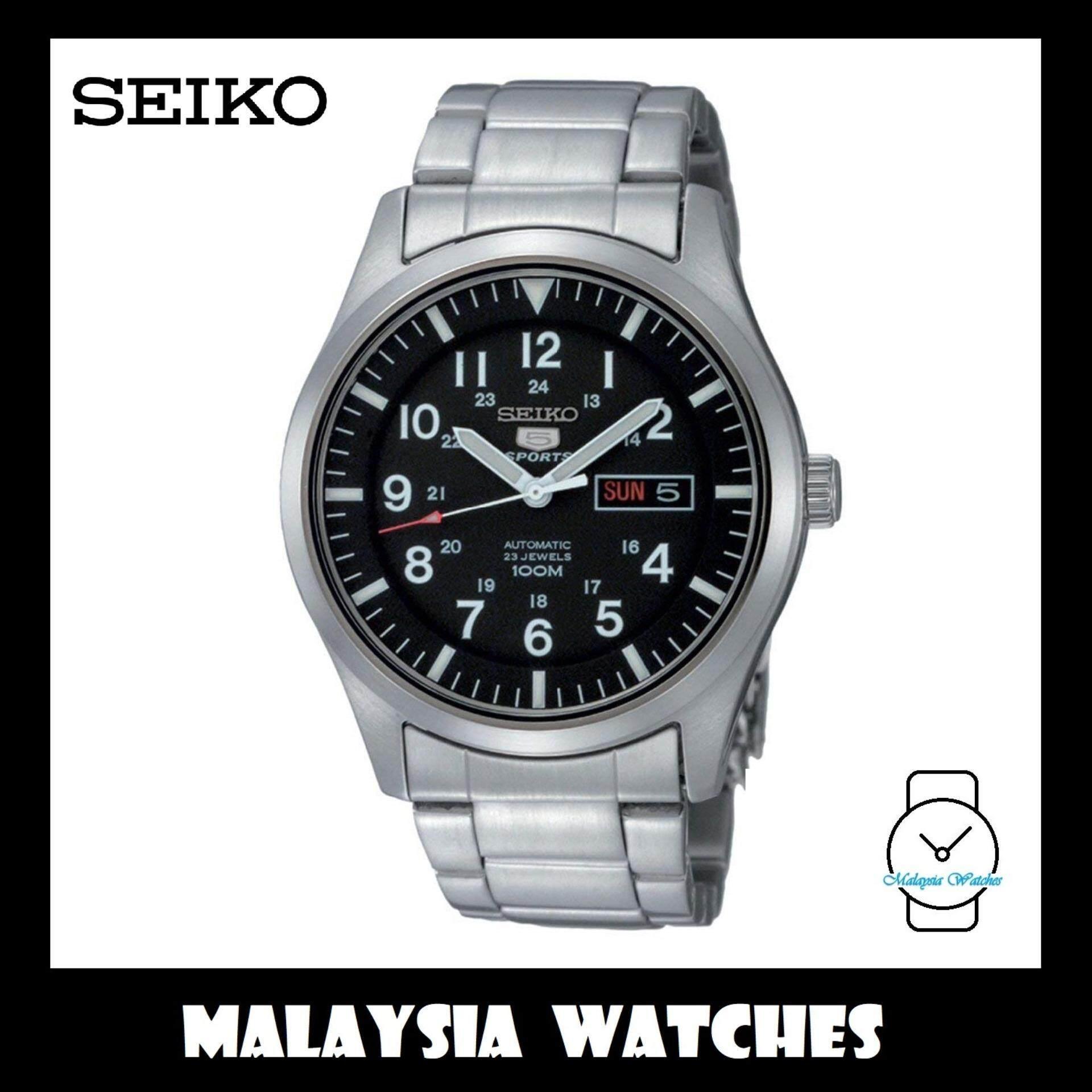 a349648e7e6 Seiko 5 Sports SNZG13K1 Automatic Stainless Steel Bracelet Watch