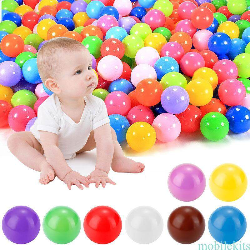200pcs Kids Baby Soft Play Balls Toy For Ball Pit Swim Pit Ball Pool Colorful By Wafa Petshop.