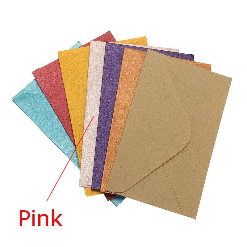 50pcs Vintage Design Small Colored Blank Mini Paper Envelopes Wedding Party Invitation Envelope Greeting Cards Gift Envelope By Teamwin.