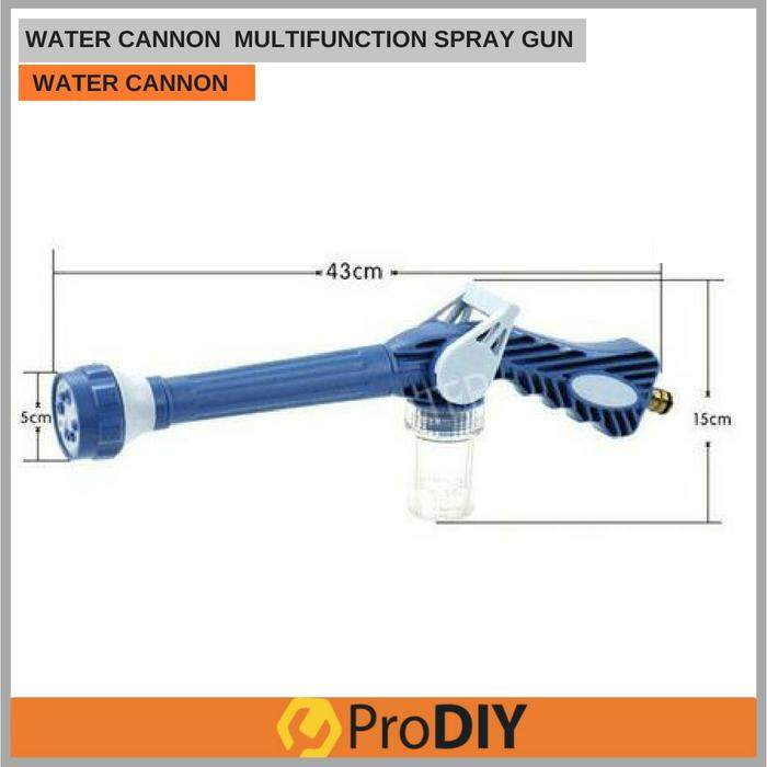 EZ WATER JET PRESSURE WASHER CANNON MULTIFUNCTION SOAP DISPENSER NOZZLE SPRAY GUN