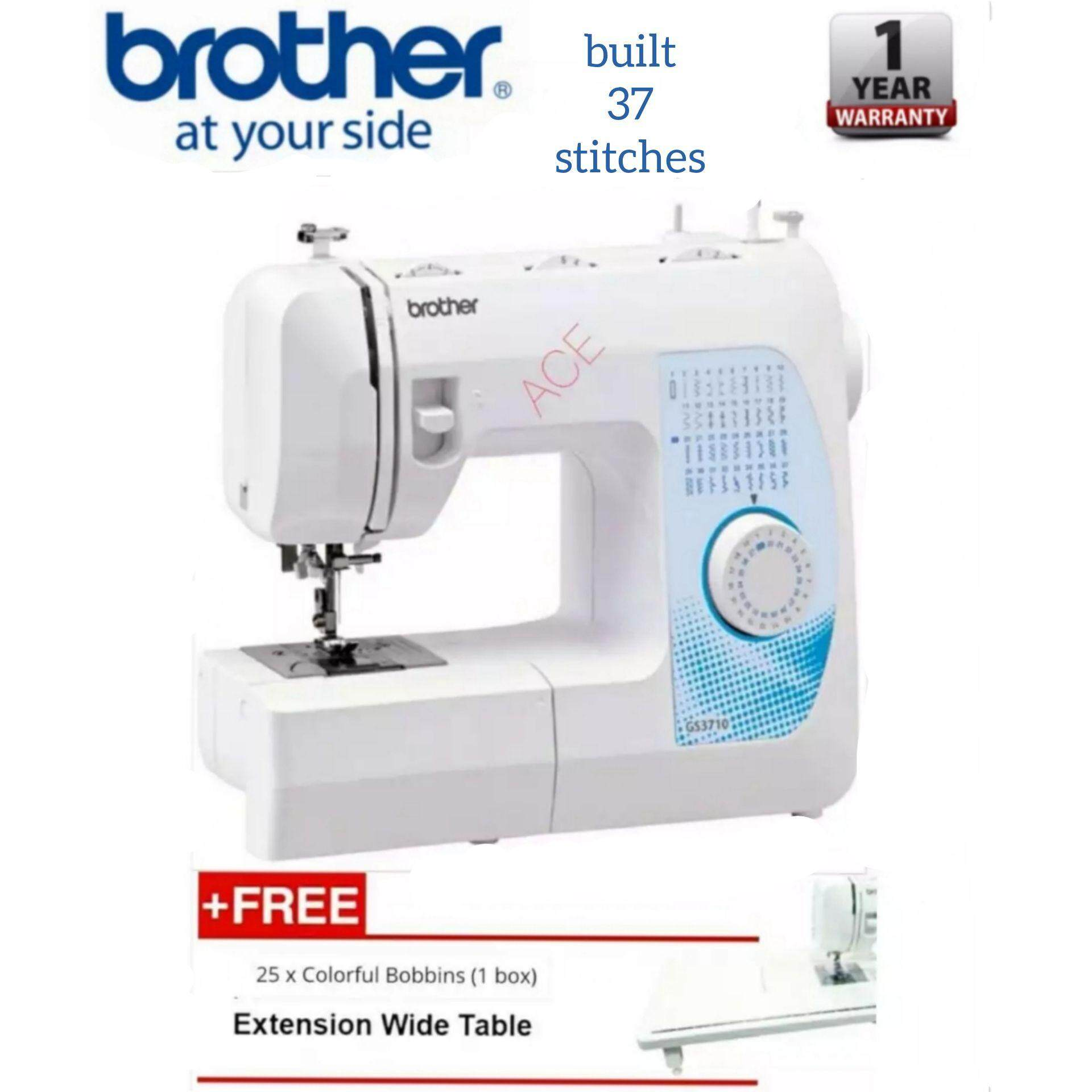 Brother Sewing Machines Price In Malaysia Best Ja1450nt Portable Machine Mesin Jahit Ja 1450nt Gs3710 Free Extension Table 25 Colorful Bobbins