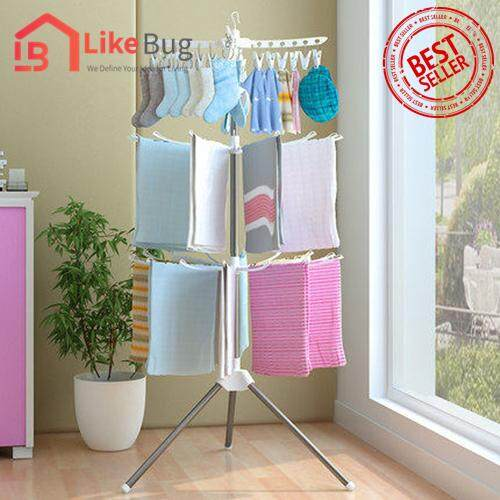 Like Bug: 3 - Tier Clothes Suspended Drying Cloth Rack By Like Bug.