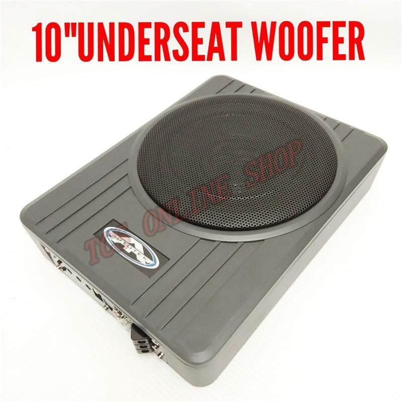 Autotek Amplified Subwoofer Underseat Unique Slim Design 10 Sw-10v1 By Tcs Online Shop.