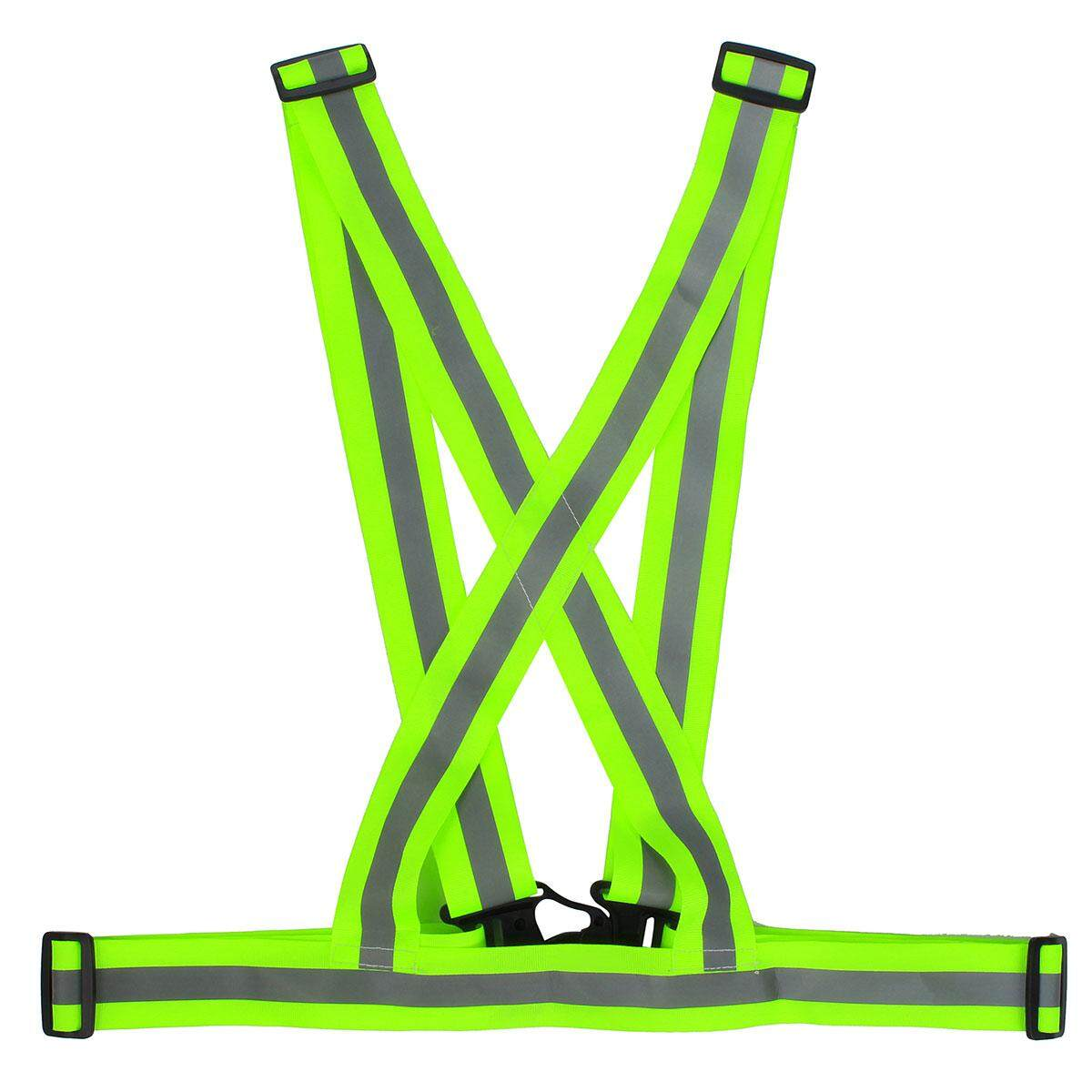 Green Adjustable Safety Visibility Reflective Vest Waistcoat For Cycling Running