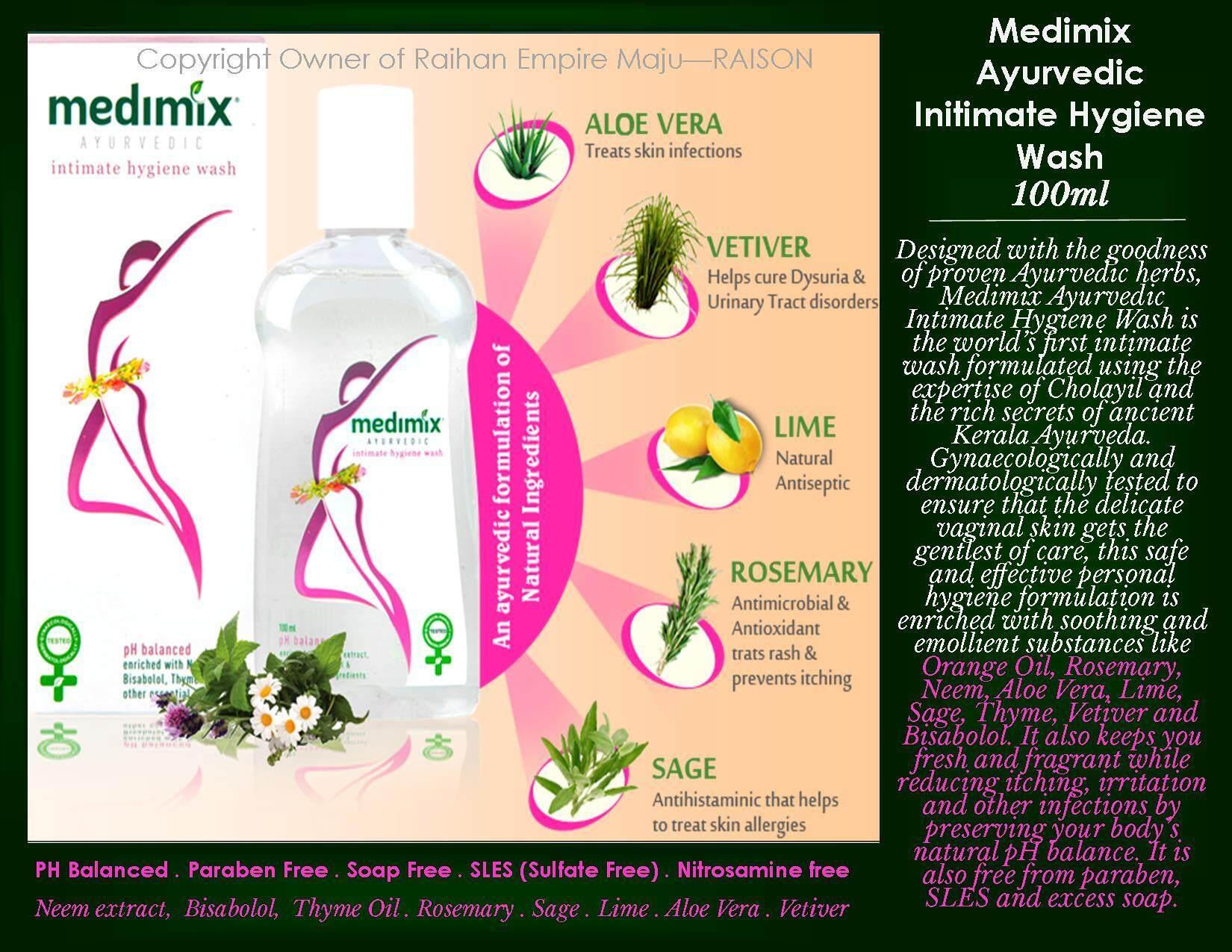 Medimix Ayurvedic Initimate Hygiene Wash 100ml By Raison- Raihan Maju Empire.