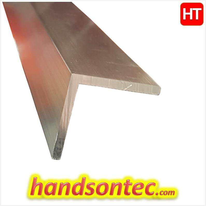 RA6061 Aluminum Right Angle Bar/1.00×1.00 Inch, L=300mm T=2mm