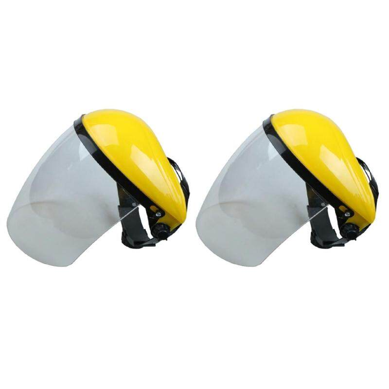 MagiDeal 2 Pieces Full Face Shield & Visor Hat Hedge Cutting Eye Protective Helmet