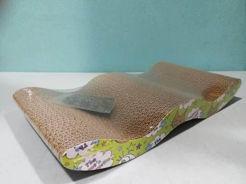 Cat Claw Cardboard Scratcher Scratching Board Pad Wavy 44cm X 21cm By Xen Trading.