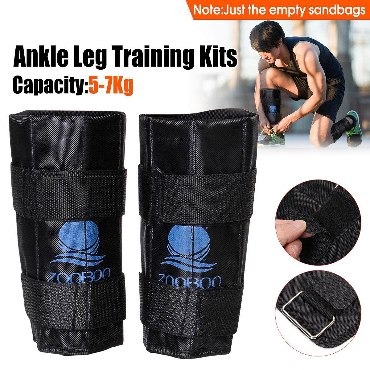 Pair 5-7kg Adjustable Ankle Leg Weight Gym Exercise Weighted Walking Training By Teambest.