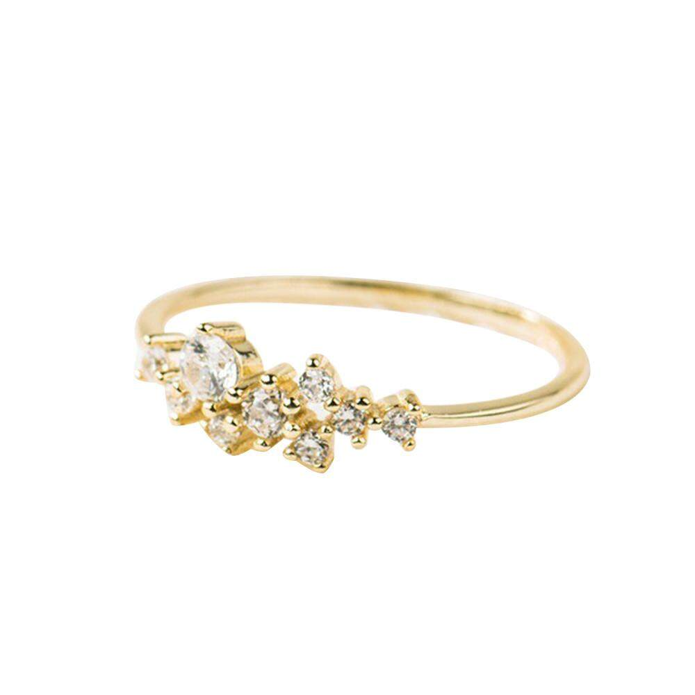 33ad841d00d1 2018 Fashion Trend Crystal Simple 3 Diamonds Ring Zirconia Simple Rings for  Women Anti Allergies