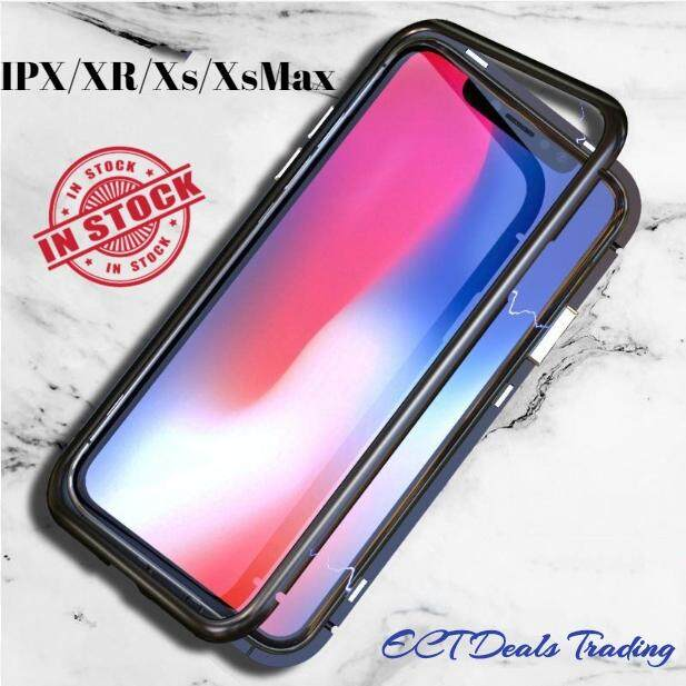 Magnetic Tempered Glass Case for Iphone X XR XS XsMax [Ready Stock] tempered glass