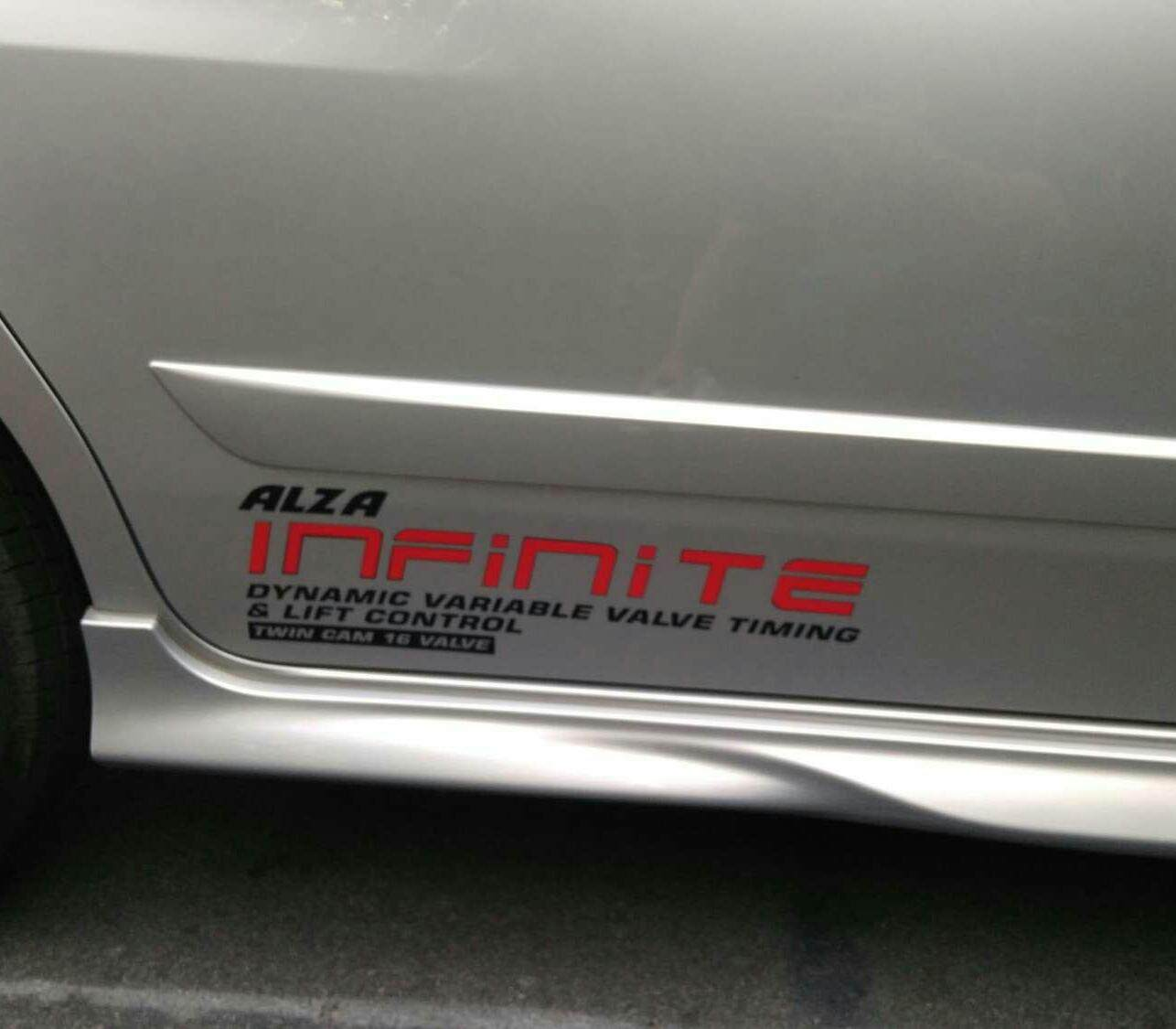 Alza infinite sticker black