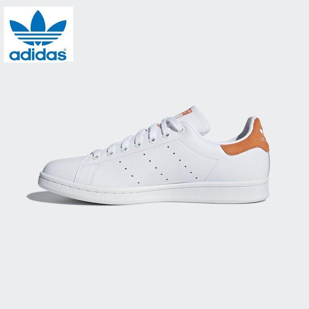premium selection 40994 f59eb Adidas 2018 New Originals Stan Smith CQ2207 White Orange Sneakers