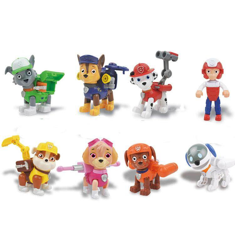 2018 New 8Pcs set 3.5inch PAW Patrol Action Figures Suit Hand-made model 506aa4b48d