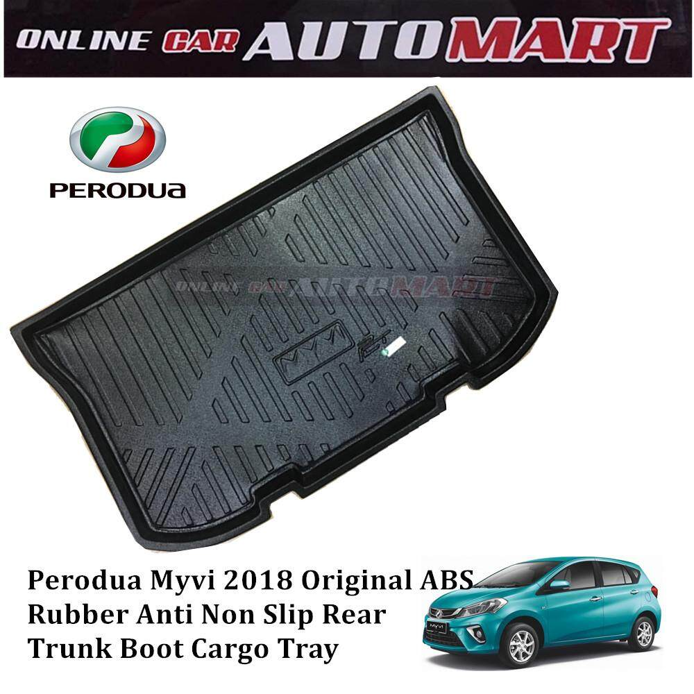 Custom Fit Original Abs Non Slip Rear Trunk Boot Cargo Tray - Perodua Myvi 2018 By Online Car Accessories.
