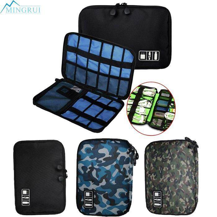 Electronic Accessories Cable Usb Drive Sd Card Organizer Bag Insert Case Black By Mingrui.