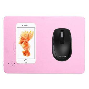 Imitation Leather Mobile Phones Wireless Fast Charger Mouse Pad Qi Standard