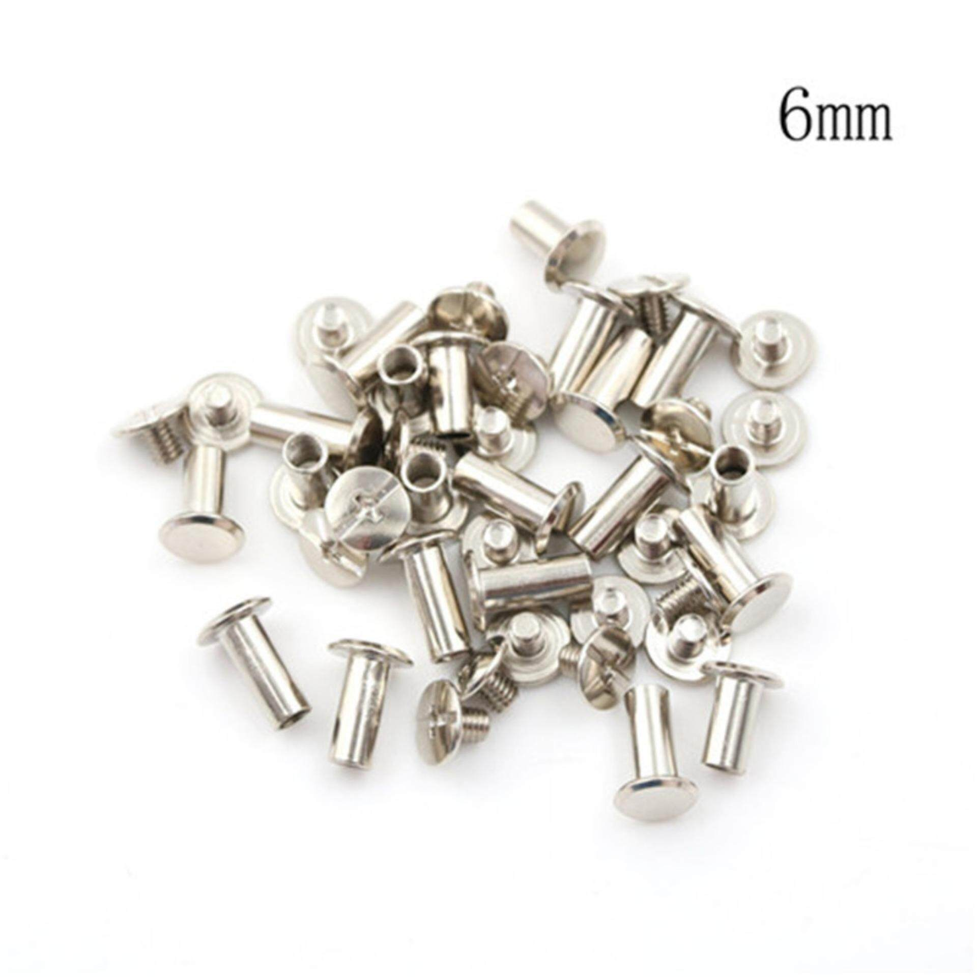 Female Warrior 20PCS Nickel Binding Chicago Screws Nail Rivets Album Craft  6mm