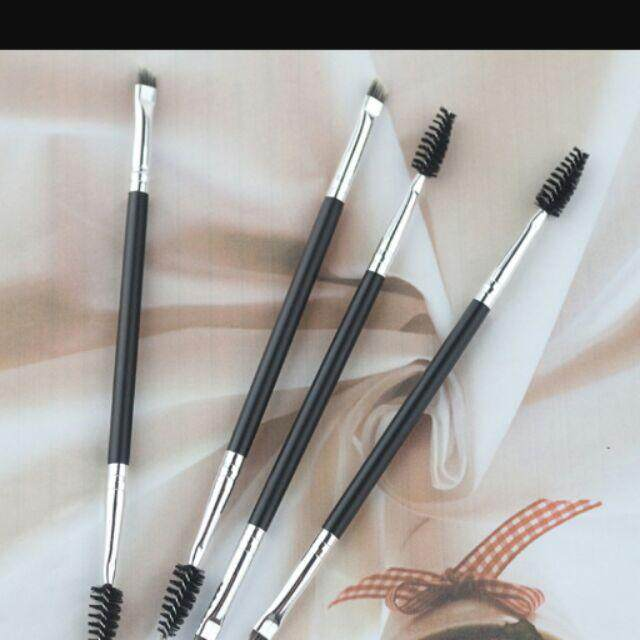 [ready Stok Malaysia] 2 In 1 Eyebrow Brush / Brush Duo Eye Brow 2in1 By Maksu Beauty.