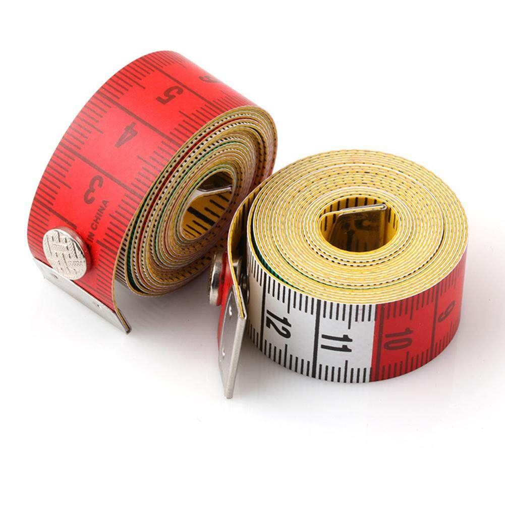 60 /150cm Leather Body Measuring Ruler Sewing Cloth Tailor Tape Measure Soft Flat Ruler With Button Specification:1.5 M By Magic Cube Express.
