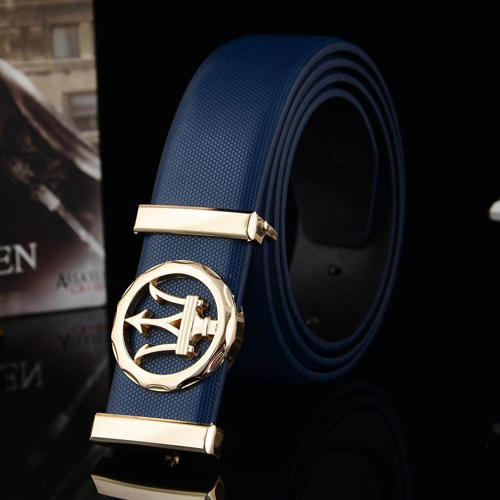Maserati Mens Belt Automatic Leather Belt Luxury Design Black Casual Smart New 120cm By Haoyi89.