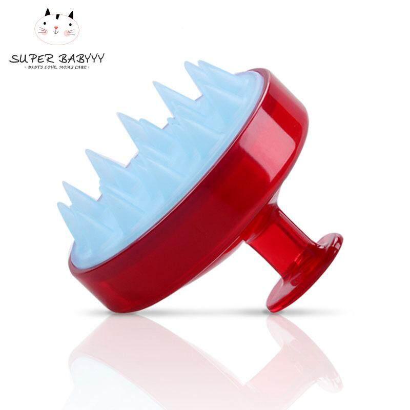SBY Spa Massage Brush Silicone Head Body Shampoo Scalp Comb Hair Washing Shower Brush