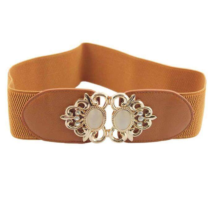 f61282013a1 Endowed New Fashion Accessories Alloy Flower Vintage Leather Belt Straps  For Women BG