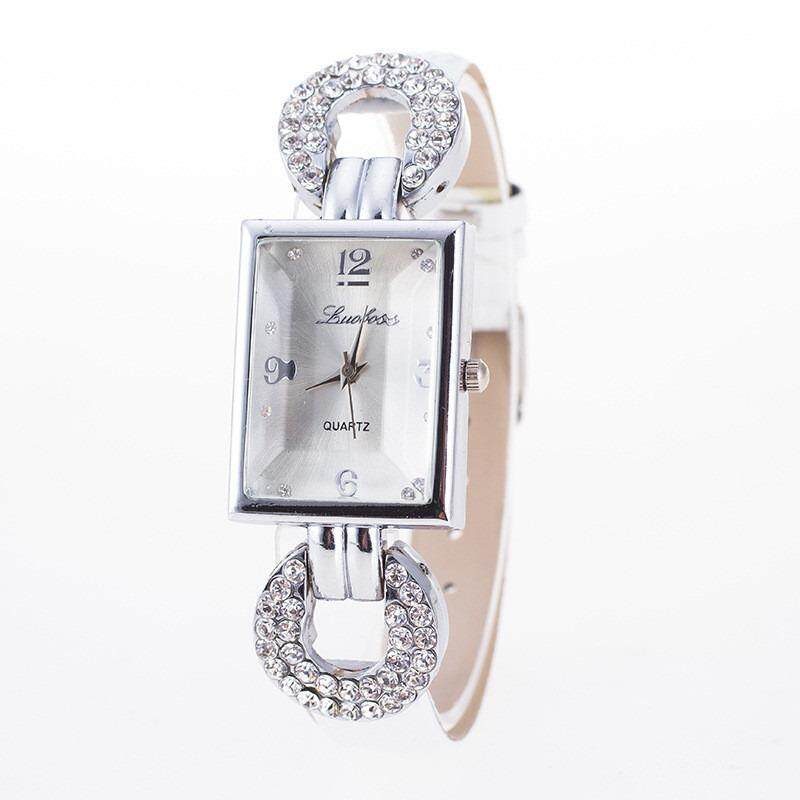 Luxury Women Crystal Square Dial Dress Watch Leather Strap Lady Girls Female Watchband Malaysia
