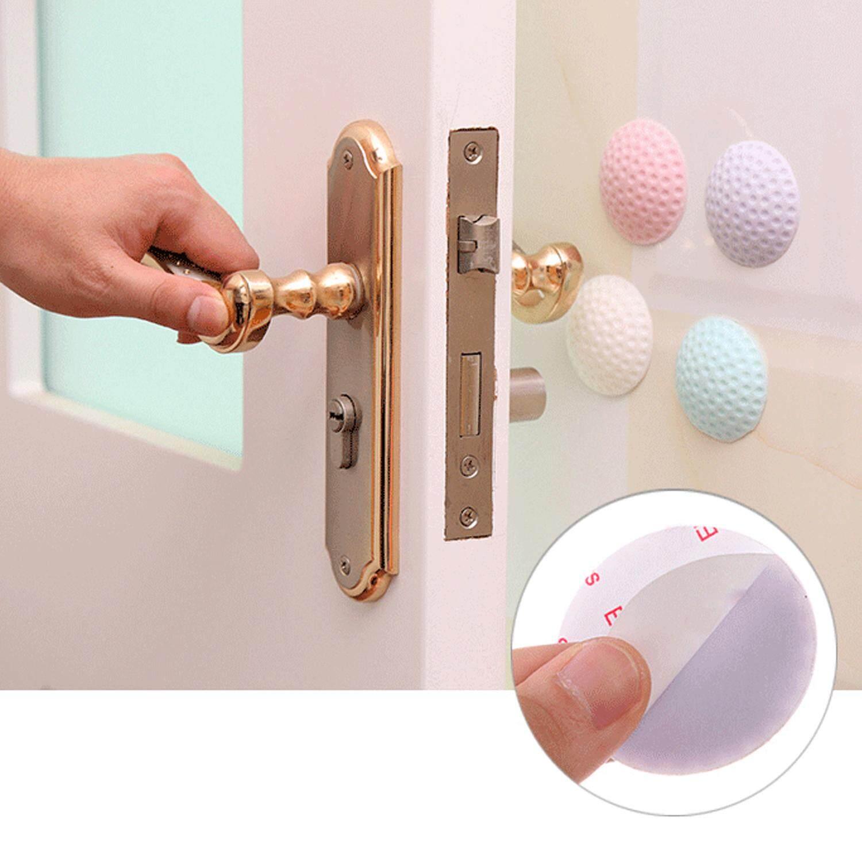 10 PCS Door Handle Stopper Protectors Bumpers Pads Wall Guards  Self-adhesive Sticker Random Mixed Colors