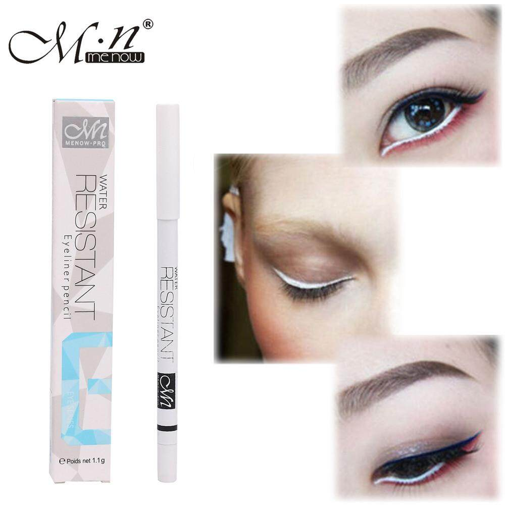 Docesty-1PC White Eyeliner Pencil Eye Liner Waterproof Long Lasting Eye Brighten